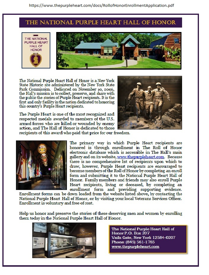 Purple Heart Hall of Honor