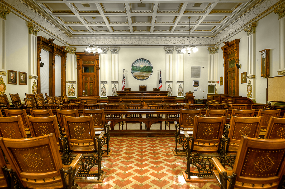 View of the courtroom