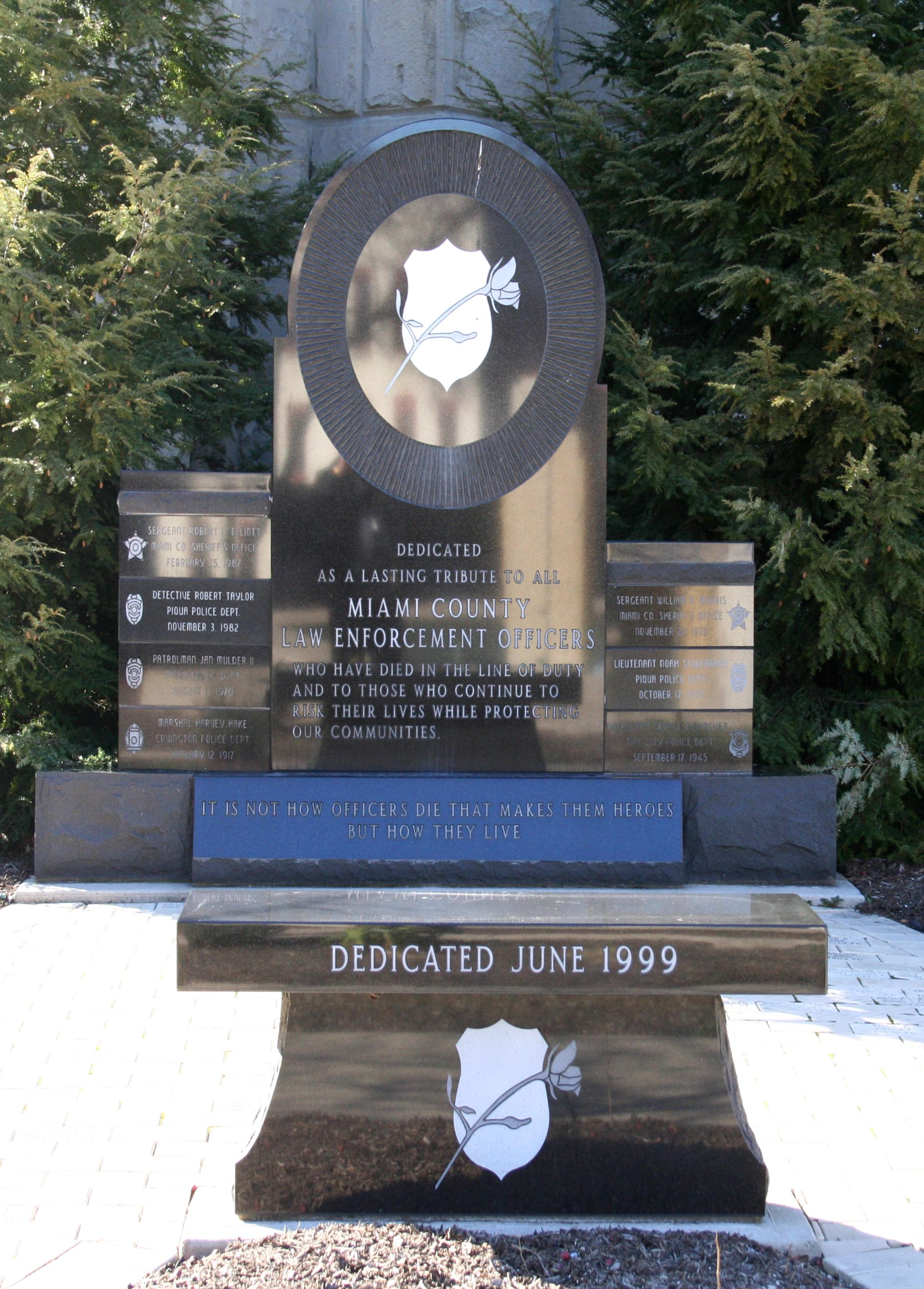 Photo of Miami County Law Enforcement Memorial